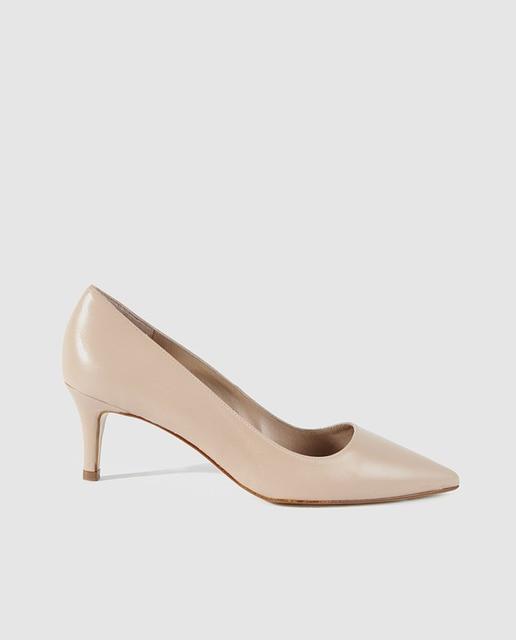 Zapatos de saln de mujer Zendra Basic de piel beige  Moda  El Corte Ingls