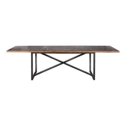 Mesa de comedor extensible de madera y metal Halo