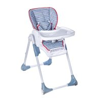 bbest blue stripes collapsible high chair  Babies  El ...