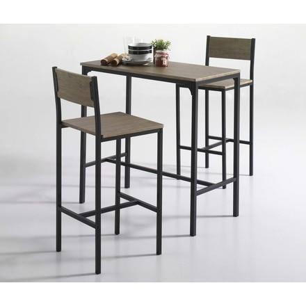 Conjunto mesa  2 sillas altas