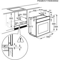 Horno a vapor Electrolux EOC6P71X pirolítico