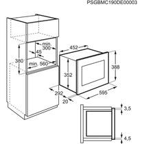 Microondas integrable Electrolux LMS2173EMX con capacidad