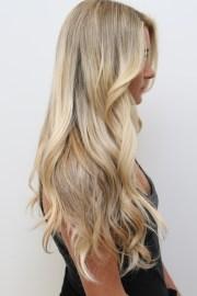 extravagant long blonde hair
