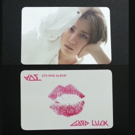 BEAST Good Luck Hyunseung White Lips Card