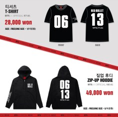 BTS 2014 THE RED BULLET CONCERT OFFICIAL GOODS 04 - T-Shirt & Zip-Up Hoodie