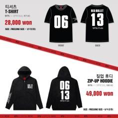 BTS 2014 THE RED BULLET CONCERT OFFICIAL GOODS 04 - T-Shirt & Zip-Up Hoodie