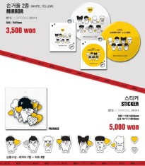 BTS 2014 THE RED BULLET CONCERT OFFICIAL GOODS 05 - Mirror & Sticker