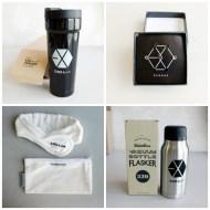 2015 EXO-Love CONCERT in DOME Official Merchandise - Black Tumbler, Piercing Set, Hairband, Vacuum Bottle Flasker