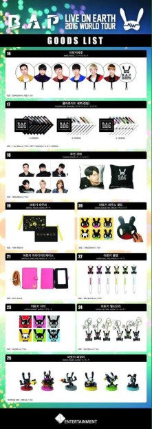 B.A.P Live On Earth 2016 World Tour Official Merchandise 02