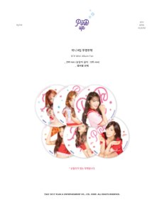 APINK 6TH MINI ALBUM PINK UP OFFICIAL TRANSPARENT FAN