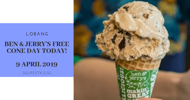 LOBANG: BEN & JERRY'S FREE CONE DAY TODAY – 9 APRIL 2019 + WIN a YEAR'S WORTH of ICE CREAM!