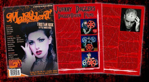 Malevolent Magazine featuring Johnny Daggers