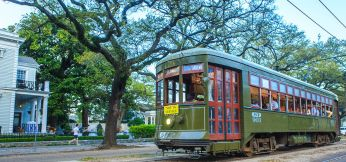 Private Streetcar Charter on St. Charles Avenue