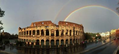Colloseum with Double Rainbow