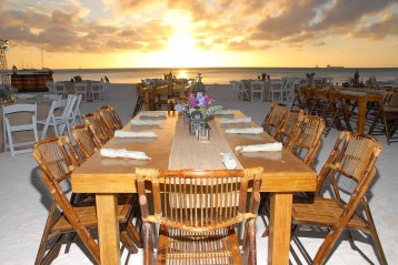 Beach Dinner Setup