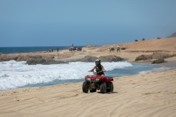 ATV along the beach. Los Cabos