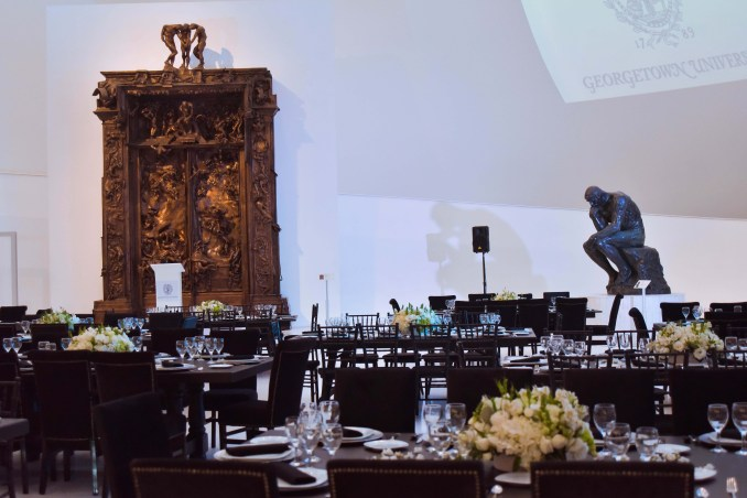Dinner set up, Soumaya Museum in Mexico City