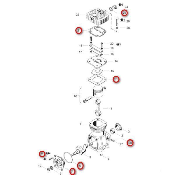 Air compressor repair kit / Kit de réparation, compresseur