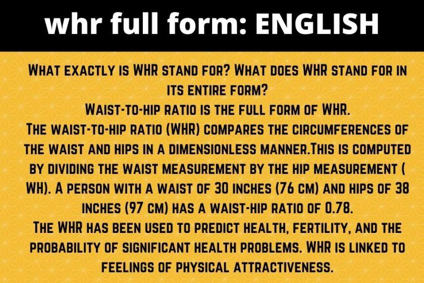 whr full form