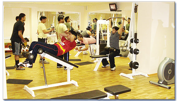 A Gym in a Hostel for Indian Students