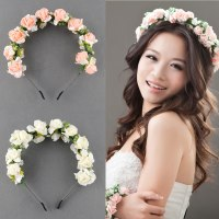 Flower Garland Floral Bridal Headband Hairband Wedding ...