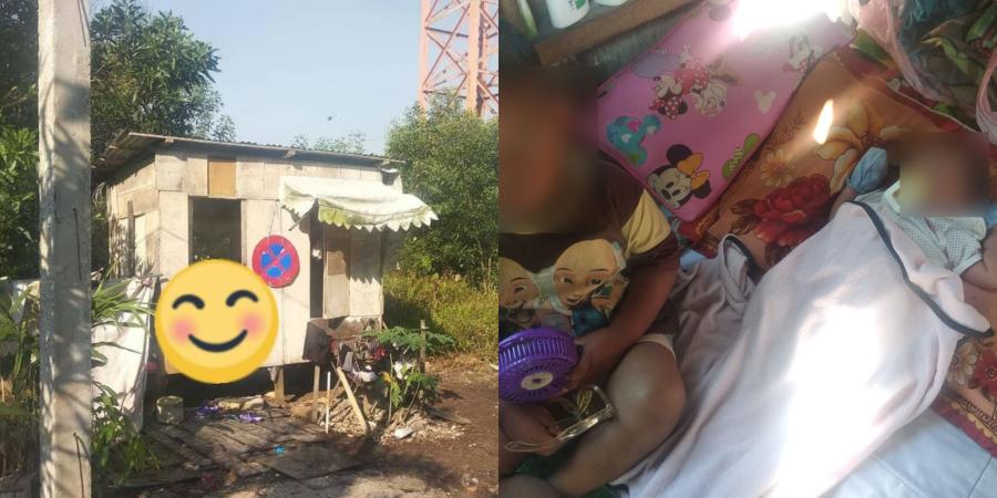 Sayu, Pondok Kecil Daif Dihuni Lima Beranak, Si ibu Masih Dalam Pantang 21 Hari