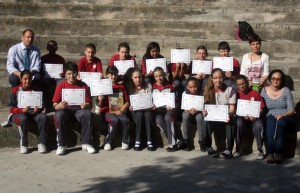 Participants were presented with certificates