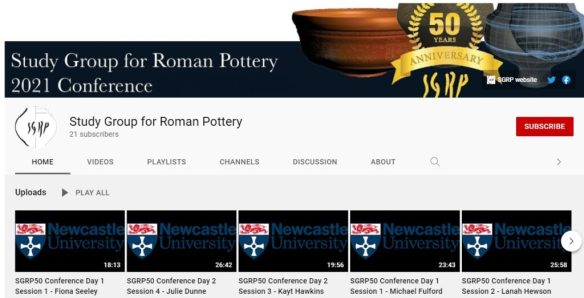 SGRP You Tube channel front page