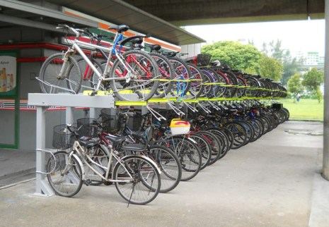 MRT Station Bike rack