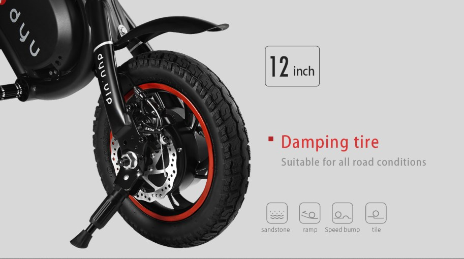 Rear disc brake with 12 inch tires