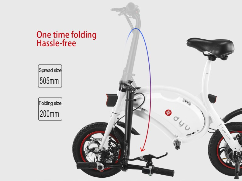 Folded DYU E-Scooter
