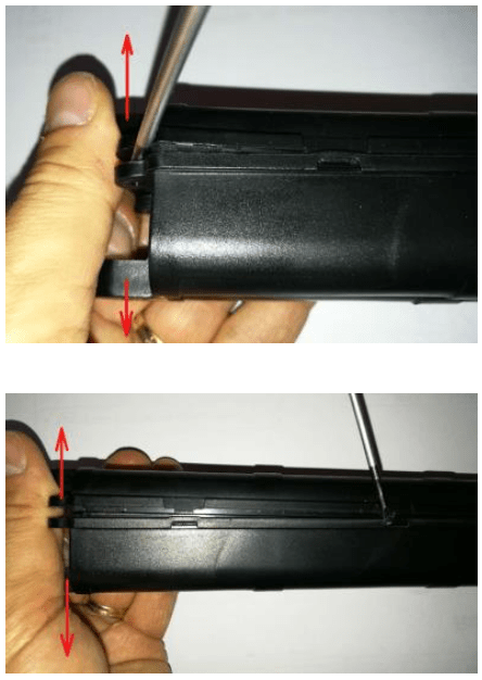 opening up a hard case battery