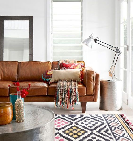 Design Obsession: The Tan Leather Sofa
