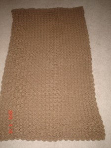 Charlotte's 39th Lapghan (waffle stitch)