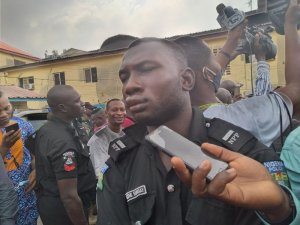 One of the suspects in DPO's uniform