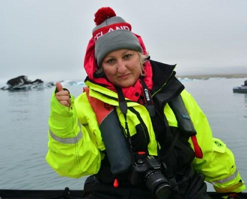 Islanda: Francy nella Jokulsarlon