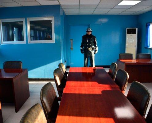 Confine tra Nord e Sud Corea: la Sala Conferenze della Freedom House