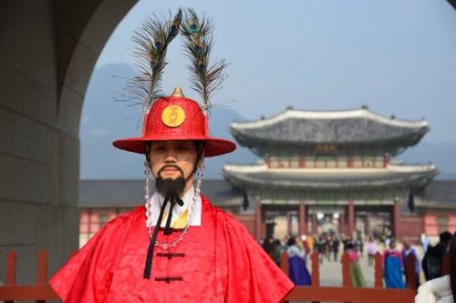 Seoul: Guardia d'onore al Palazzo Gyeongbokgung