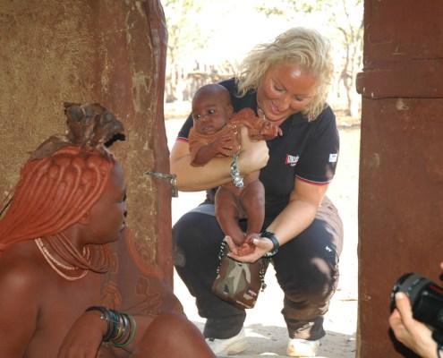 Namibia: Francy con Himba