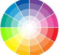 Disco de cores complementares. Muito útil na criação de uma capa de livro.