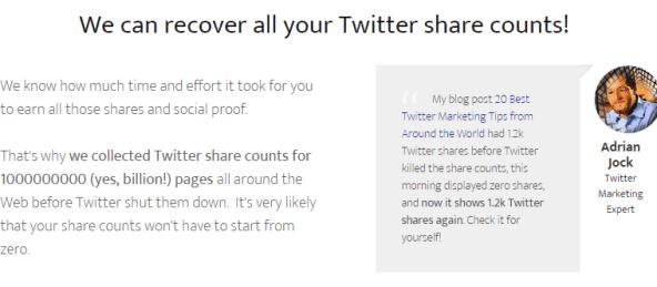 Twitter Historic Social Count Data