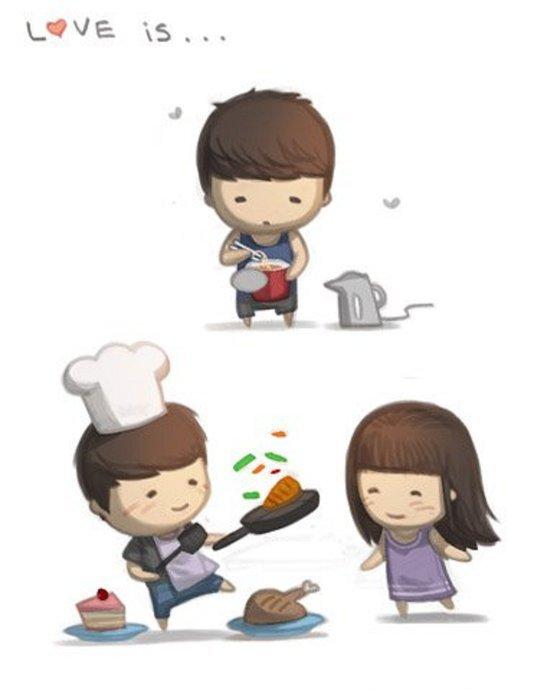 Cute Cartoon Couple Image For Whatsapp Dp Secondtofirst Com