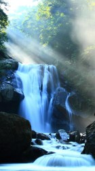 fantasy iphone waterfall among mountains wallpapers ilikewallpaper mobile plus hd forest water