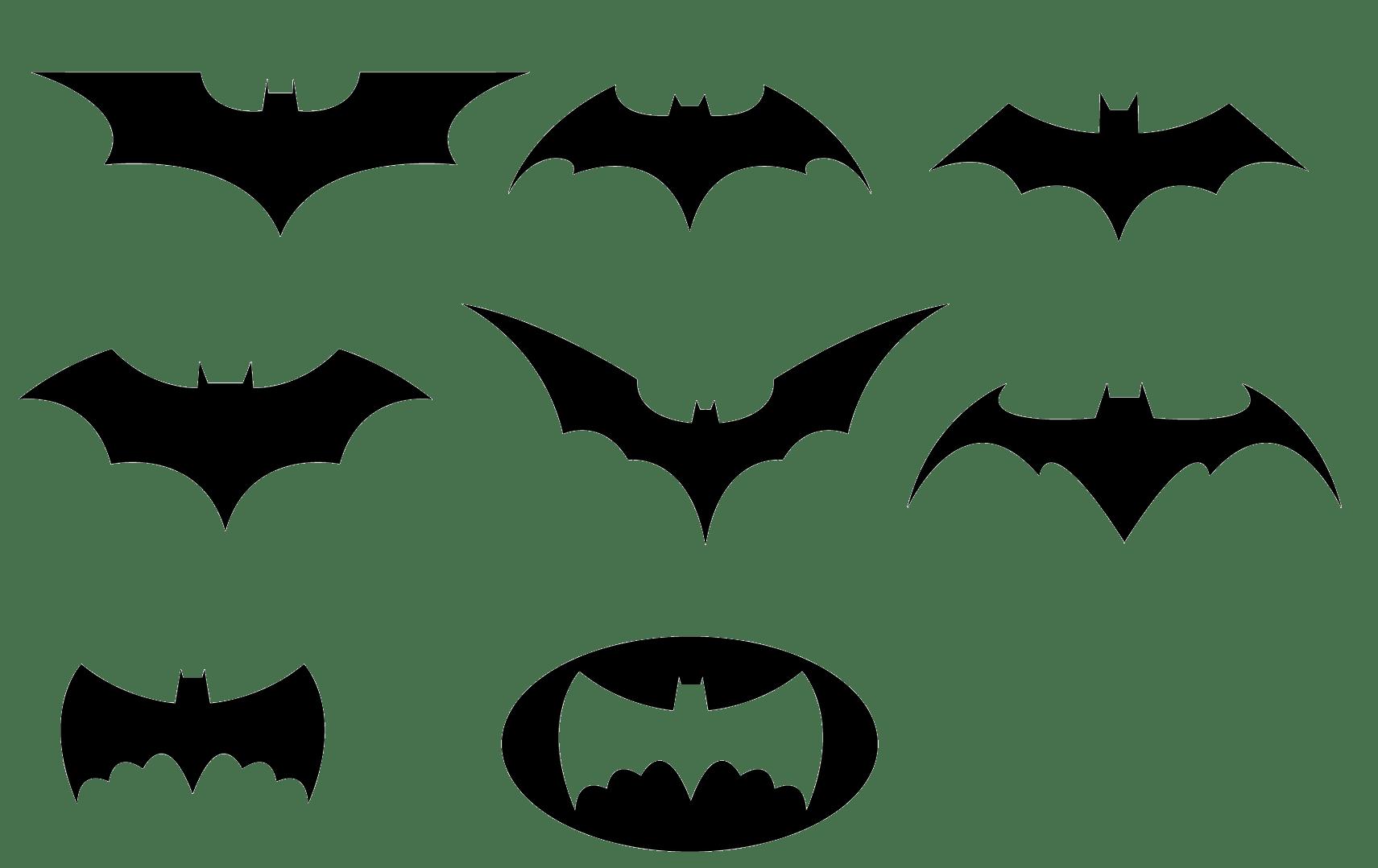 Batman Black And White Logo Clipart Transparent