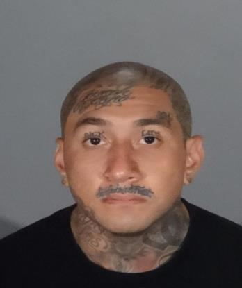 Joseph Arthur Leal, 28, was arrested in San Gabriel along with another suspected gang member after the pair forced a group of residents out of their home and barricaded themselves inside. (San Gabriel Police Department photo)