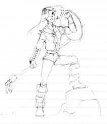 Female heroine design for forgotten project