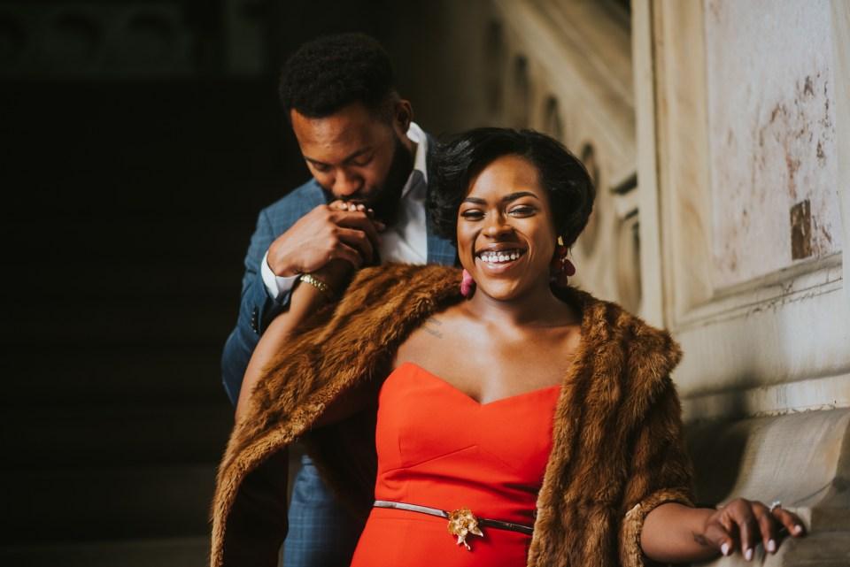 best black engagement photographer