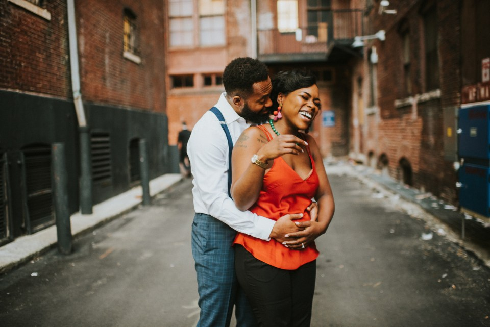 center city engagement session in philly