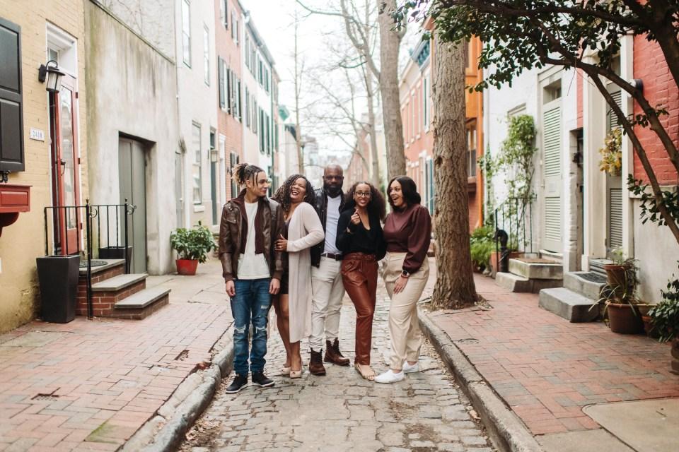 group family photo in philadelphia