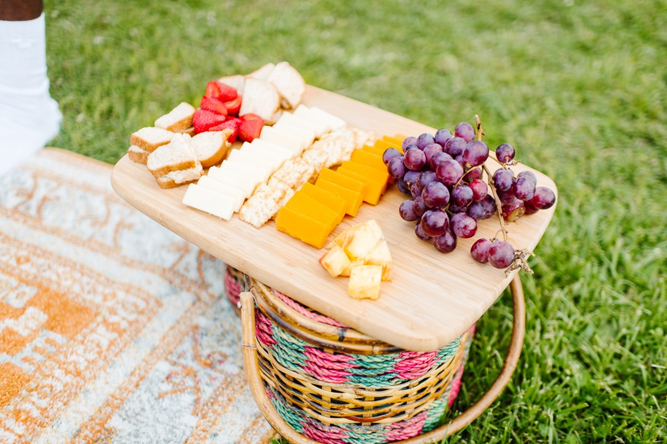 fruits and cheese picnic